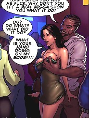 Whore you fine as fuck on all these interracial cartoon pix! What's a hand doing on the boob?