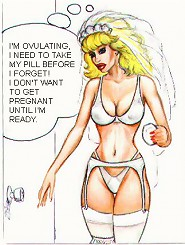 Sexy comic bride by John Persons