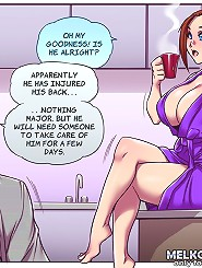 porn comics with brunette that have giant tits and hot ass