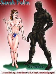 Cuckold toons. Sarah Palin cuckolded her own white spouse to be having brown basketball game player