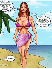 Awesome redhead slut black fucked in hardcore cartoon comics porn