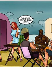 Horny gal is dreaming of a big black cock in the porn interracial comics