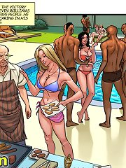 About this interracial cartoon Mrs Williams going in to get more cocktails and drank a lot of sperm