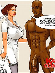 Soothing therapeutic massage turns into hard interracial toon porn through large african american dick of sex hot bloke!
