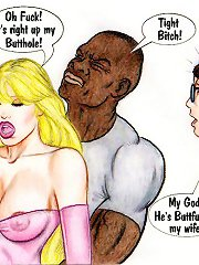 On this porn comics white slut buttfucked directly in nigga club