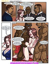 Black cartoon sex on the pages of the hottest interracial sex comic books