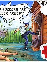 Mad policeman fucks all prostitutes in uniform xxx cartoons