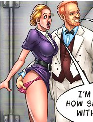 Comic sex banging with girls pounded from behind
