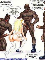 John Persons interracial porn comics