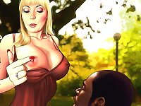 interracial cartoon sex with desirable white blond whores which prefers significant african american rods much