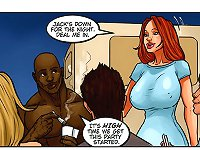 Strip poker with muscled hunks and big tits ladies in a hot ebony cartoon sex