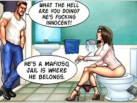 What the hell are you doing at xxx cartoons? He is a mafioso, jail is where he belongs