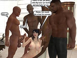 interracial group sex cartoon -