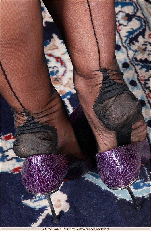 Pantyhose lady barbara