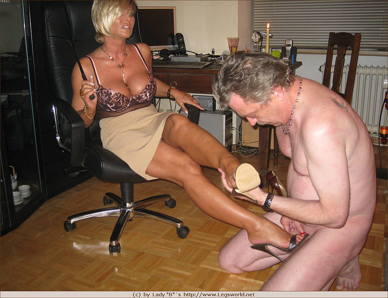 Busty milf dominates a poor man 6