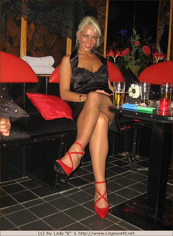 Milf stockings heels sexy legs