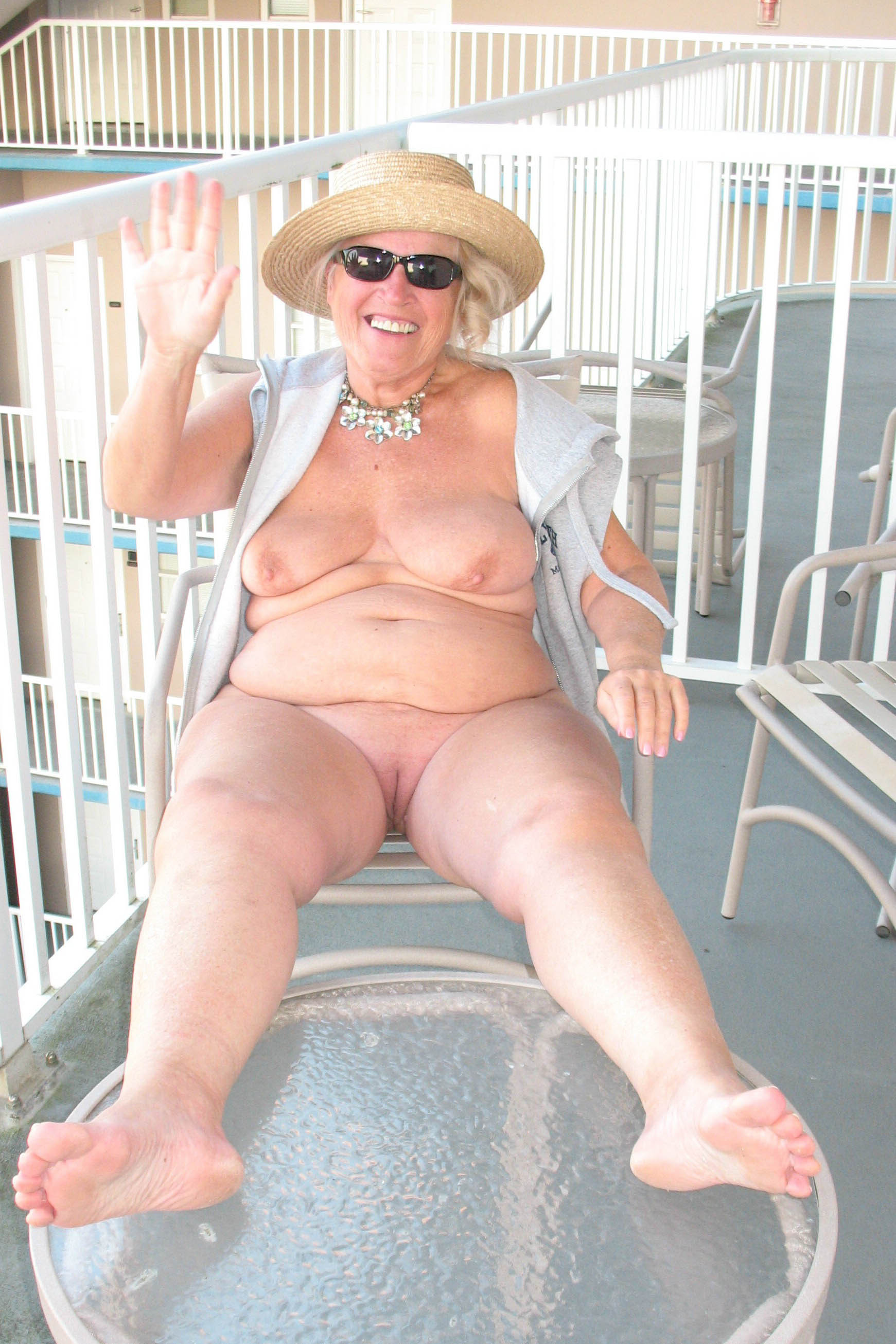Naked matures and granny at nude beach