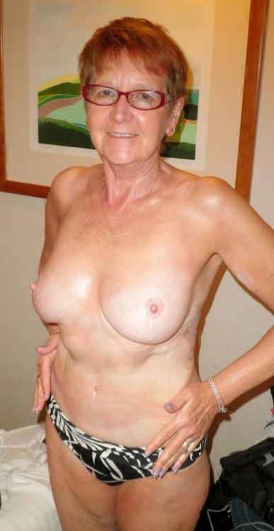 Grandma naked on beach spread legs girl