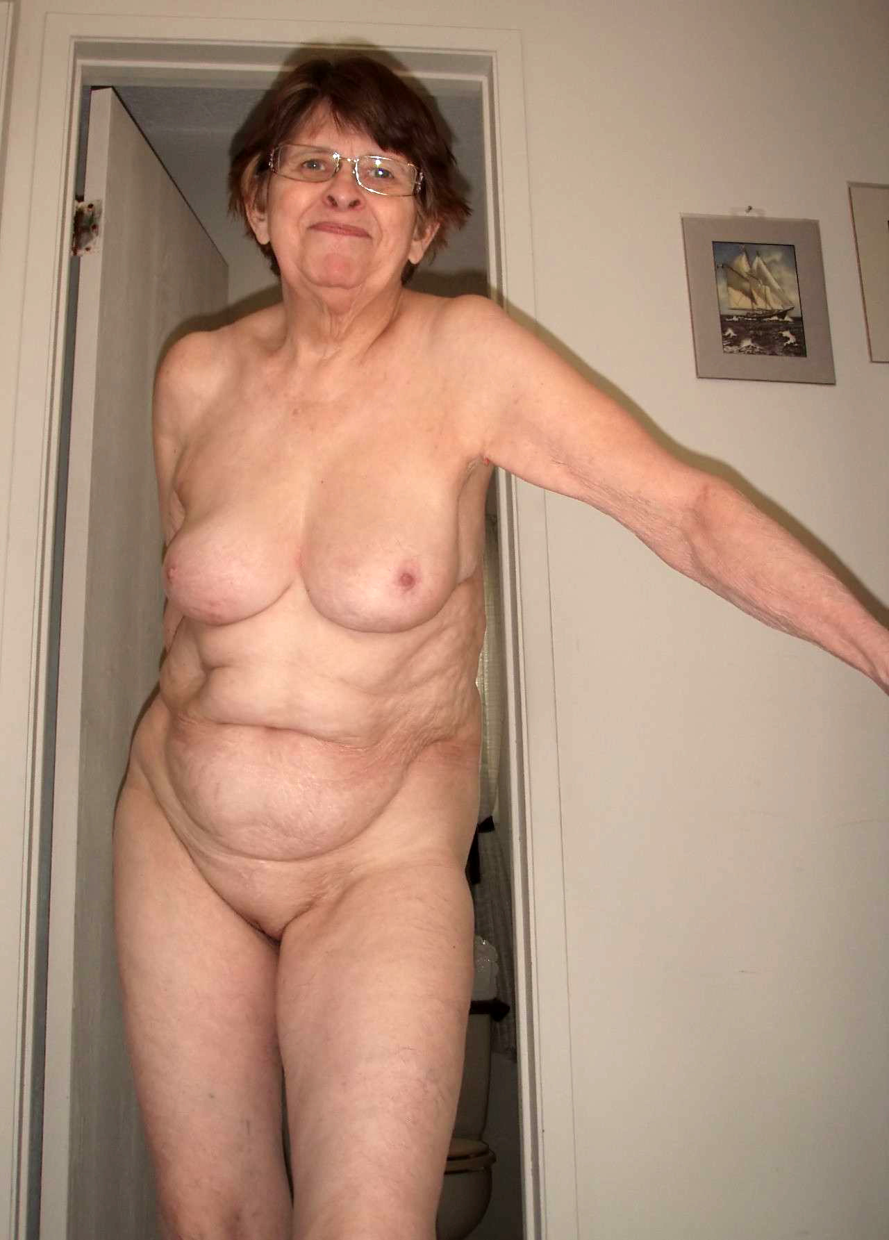 Amateur mature nude granny remarkable, very