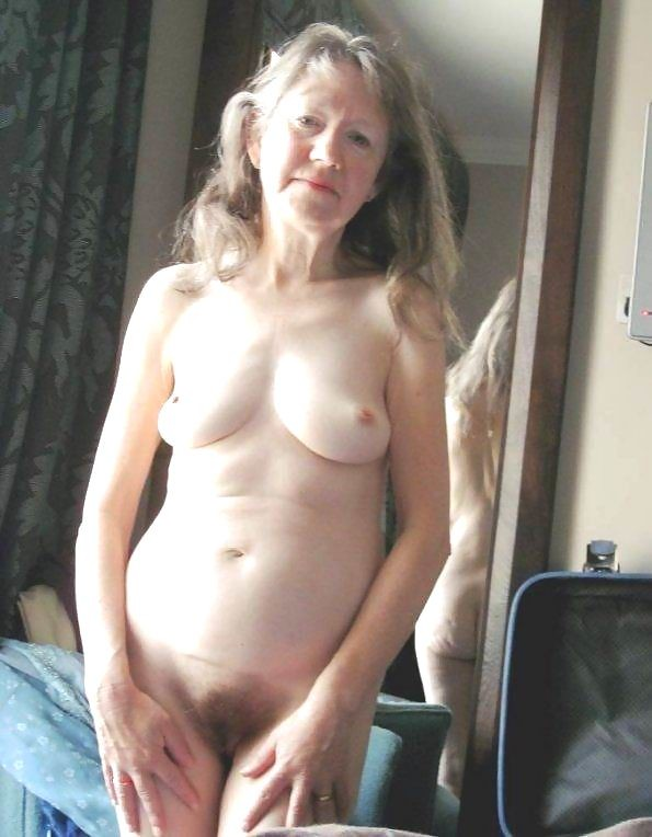 Gray haired nude women