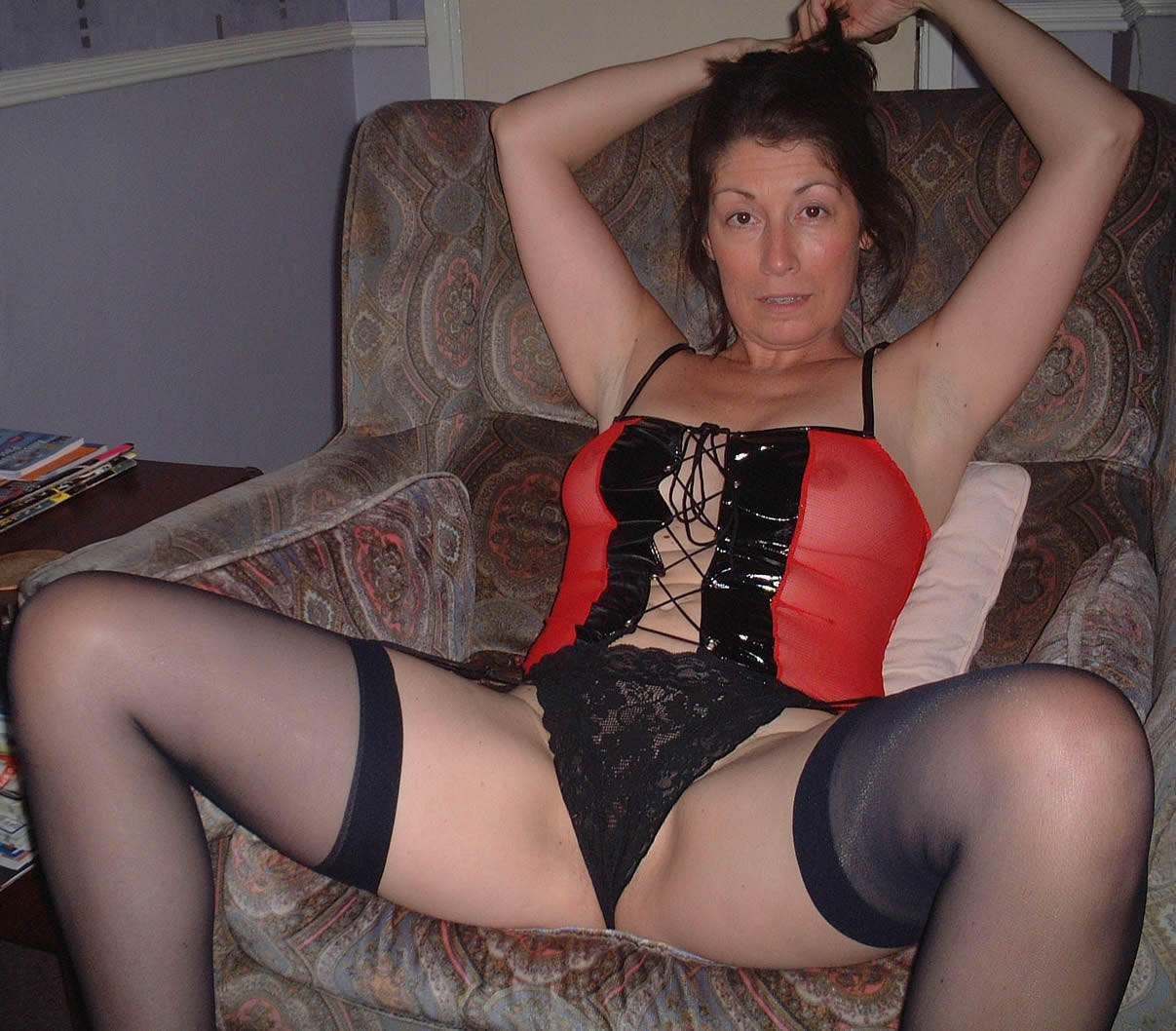 Mommies looking fucking incredible in fishnets