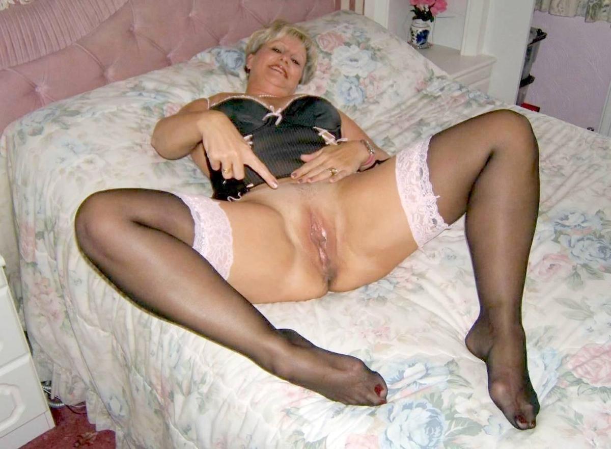Older ladies in lingerie