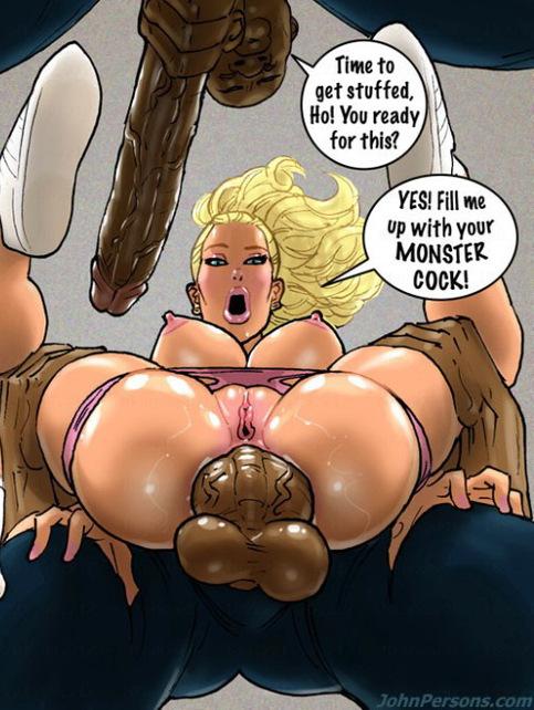 Interracial cartoon blacks blonde can