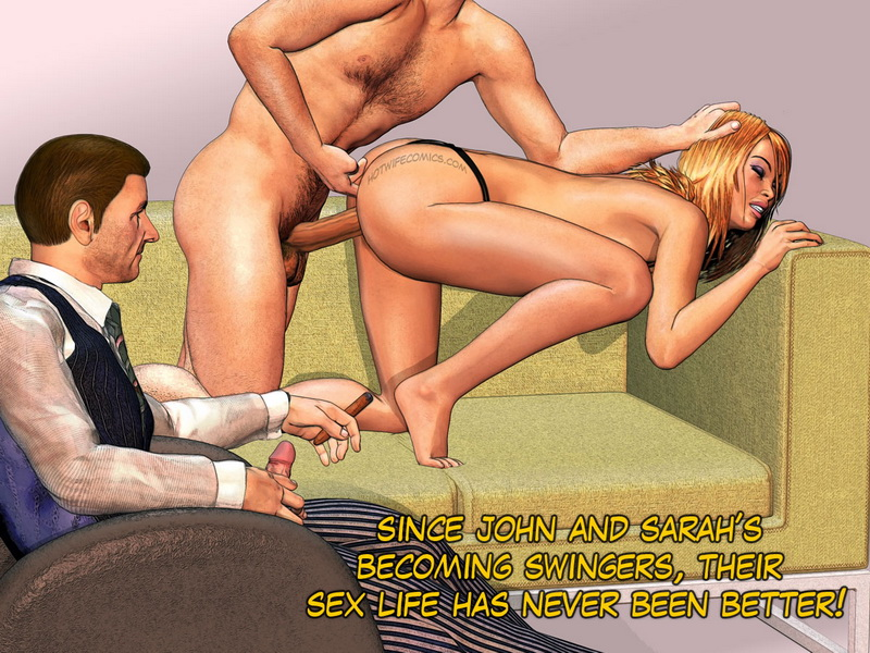 3d comic hotwife cuckolds husband with personal trainer 8