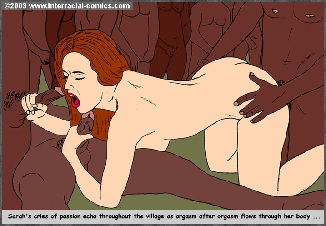 Interracial cartoon porn comics