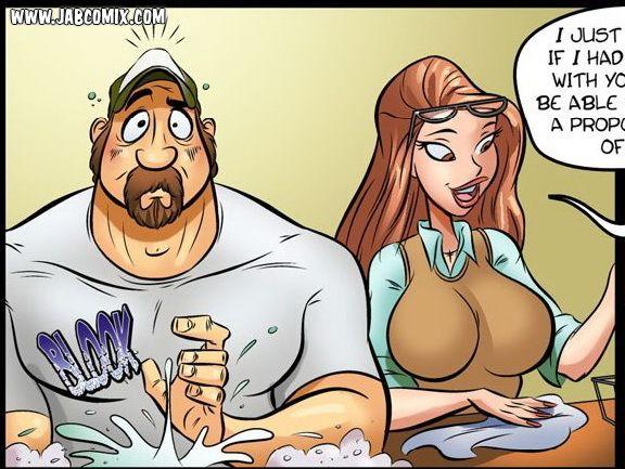 Hot redhead cartoon