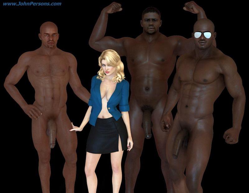 jhon person. Black 3d interracial cartoons