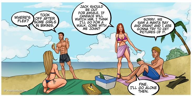 Beach cartoon porn