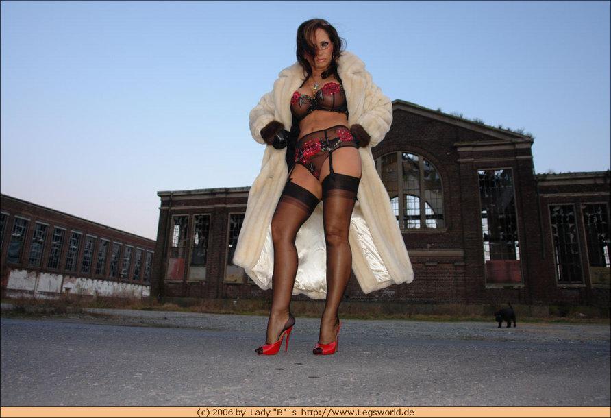 Woman's leather bondage suit