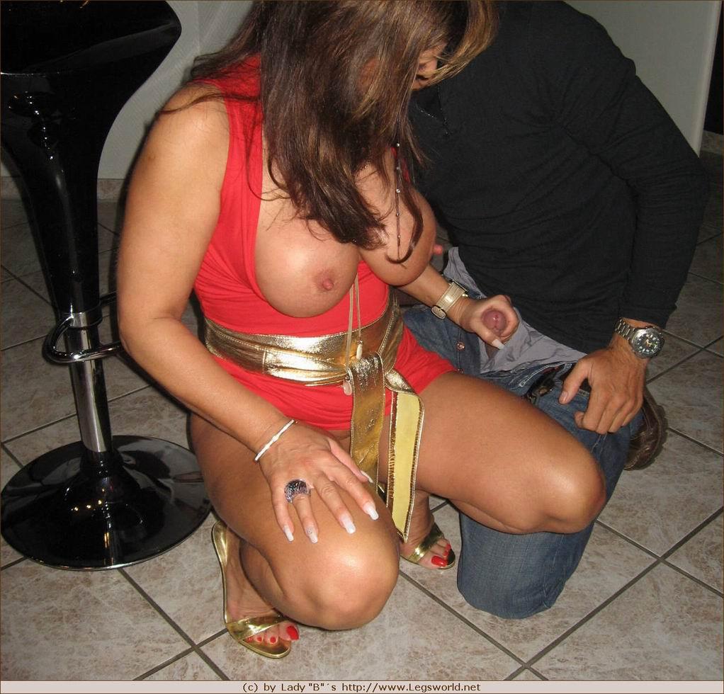 Nylon fetish hot girl first blow job 1