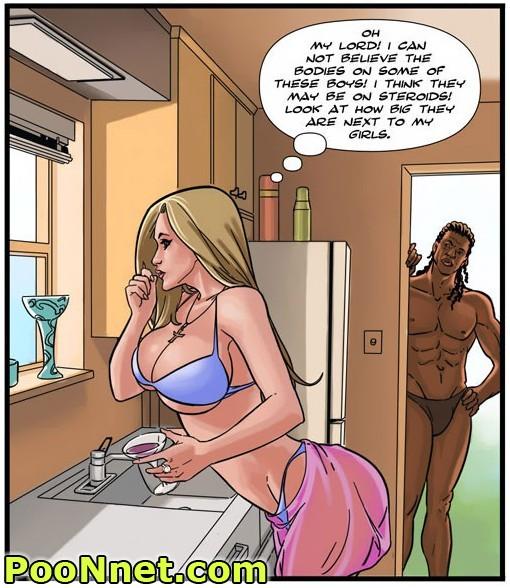 sex interracial comic girl Black