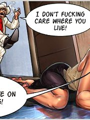 Busty hottie earns living in the street! Enjoy the dirtiest comic sex game!