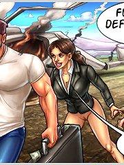 Wonderful sex comics exposing horny girls and furious action