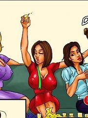 Hardcore interracial group erotic cartoons bacchanalia exhaust enormous dark-colored dicks and luscious pussies!