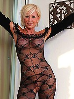 Truly beautiful MILF poses in a tight bodystocking