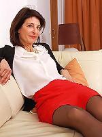 Naughty housewife teasing and pleasing herself