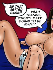 Booby sweet whore in cartoon sex comix loves this fat black cock ready to disgrace her holes!