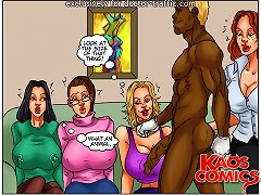 Comic cuckold stories concerning the some naughty caucasian young ladies and a dark colored striptease dancer having huge cock
