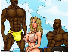 Outrageous interracial toons with juicy bitch fucking big black dorks