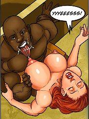 Black hunk is milking these mesmerising huge titties in a cartoon ebony porn