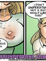 Astonishing John Person free comic lesbian session with very wet and juicy whores starving for orgasms