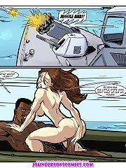 Best BJ and sex action in HQ interracial porn comics